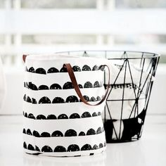ferm LIVING Half Moon Basket and Wire Basket Black - the perfect fit for a monochrome stylish look. ferm LIVING Half Moon Basket - http://www.fermliving.com/webshop/shop/half-moon-basket.aspx ferm LIVING Wire Basket - http://www.fermliving.com/webshop/shop/wire-basket-medium.aspx