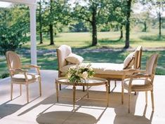 The Grandeur House Wedding with a Modern Farmhouse Style Used Wedding Decor, Modern Farmhouse Style, Outdoor Furniture Sets, Outdoor Decor, Wishbone Chair, Table, Home Decor, Decoration Home, Room Decor