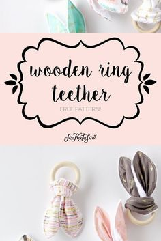 girly bandana bibs + a wooden ring teether tutorial Wooden Ring Teething Toy Tutorial Easy Sewing Projects, Sewing Projects For Beginners, Sewing Tutorials, Sewing Patterns, Diy Projects, Tutorial Sewing, Do It Yourself Food, Martha Stewart Crafts, Girly