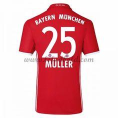 Billige Fodboldtrøjer Bayern Munich 2016-17 Muller 25 Kortærmet Hjemmebanetrøje