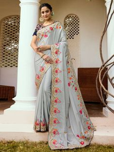 Saree Salwar Lehenga Exporter, and Shopping Store. Sringaar is one of the largest selling Saree, Salwar Kameez and Lehenga Brand all over world. Sarees Online India, Silk Sarees Online, Saris, Embroidery Saree, Stylish Sarees, Textiles, Designer Sarees Online, Art Silk Sarees, Bollywood Saree