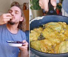 Vaníliakrémes-kakaós piskótatekercs Recept képpel - Mindmegette.hu - Receptek Chicken, Meat, Food, Essen, Meals, Yemek, Eten, Cubs