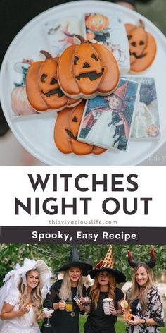 This witches night out Halloween party was full of spooky fun! You can easily re-create it for your favorite girlfriends for a memorable night. This party is great to host for a small group of mom's at someone's house! #HalloweenPartyForSmallGroup #DIYHalloween #ThisVivaciousLife