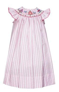 Smocked Birdhouse Dress Price:$58.00