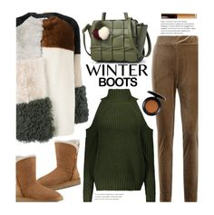 """So Cozy: Winter Boots (casual)"" by beebeely-look ❤ liked on Polyvore featuring P.A.R.O.S.H., UGG, Becca, MAC Cosmetics, StreetStyle, sammydress, streetwear, winterboots and fauxfurcoats"