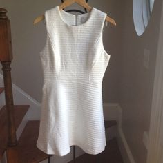 New JOA Los Angeles fit and flare Fun texture white dress JOA Los Angeles Dresses