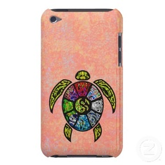 Turtle Ba-Gua iPod Touch Case from TheElementalHome* - $41.85, and you can choose your background color.