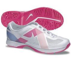 Nike Golf Ladies Lunar Summer Lite Golf Shoes 2013 - WHITE/WHITE-PRISM PINK