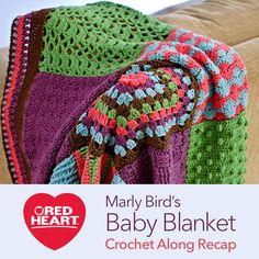 Marly Bird's Baby Blanket Crochet Along Recap