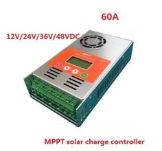 two years warranty+ LCD display 60A MPPT Solar Charge Controller 12V 24V 36V 48V auto work for solar system #Affiliate