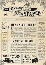 vintage newspaper template microsoft publisher