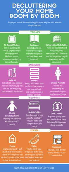 Infographic on decluttering