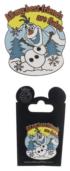 $3.94 - Disney Olaf - All My Best Friends are Flakes Pin #disney