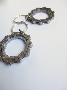 Porte-clés recyclé Bicycle Gear Ring porte-clés de Style