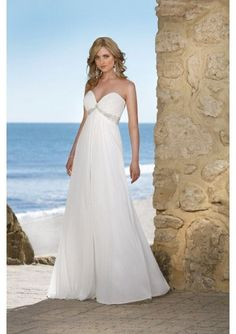 Chiffon Empire Waist Wedding Dress