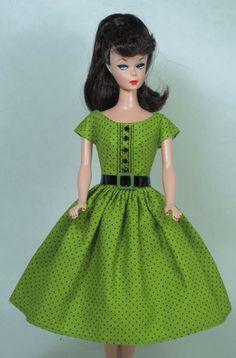 Green Apple Vintage Barbie Doll Dress Reproduction Barbie Clothes Fashion | eBay