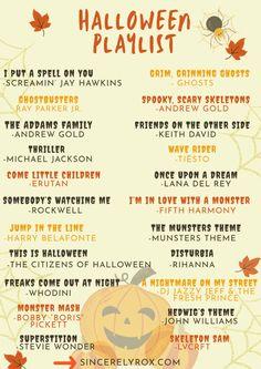 Movies For Halloween, Halloween Songs List, Haloween Games, Happy Birthday Halloween, Halloween Bucket List, Halloween Playlist, Halloween Camping, Halloween Dance, Halloween Celebration