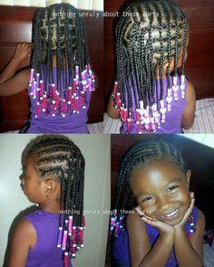 Cute cornrows, box braids and beads