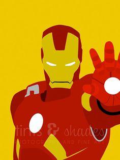 Set of 7 Superhero Minimalist Posters by TintsShadesFineArt