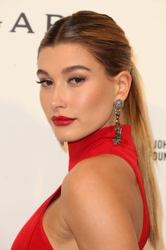 Hailey Baldwin at the 2016 Elton John AIDS Foundation Academy Awards viewing party. http://beautyeditor.ca/2016/03/05/oscars-after-parties-2016