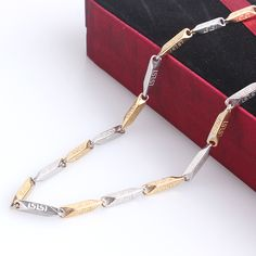 Find More Chain Necklaces Information about Golden silver Great Wall pattern chains length 55cm 316L Stainless steel Necklace for men women jewelry wholesale,High Quality steel wire gauge table,China steel chain necklace Suppliers, Cheap necklace bicycle from Chinese Jewelry Factory,Wholesale From Yiwu China on Aliexpress.com