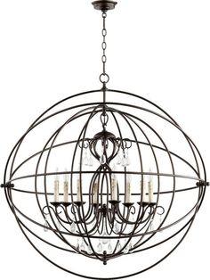 View the Quorum International 6716-8 Cilia 8 Light 1 Tier Globe Chandelier at LightingDirect.com.