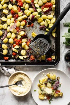 Pesto Gnocchi [Sheet Pan Recipe] - Smart Nutrition with Jessica Penner, RD Dinners To Make, Easy Meals, Smart Nutrition, No Calorie Foods, Nutritious Meals, Gnocchi, Sheet Pan, Beef Recipes, Healthy Recipes