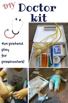 Make your own doctor kit - a perfect pretend play prompt for preschoolers!