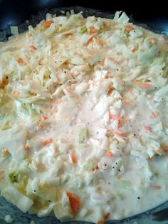 KFC+Coleslaw! Freaking DELICIOUS. I subbed sour cream for buttermilk and grated the cabbage. Perfect slaw.
