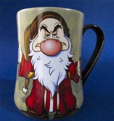 """Grumpy from the Seven Dwarfs, """"I Hate Mornings"""" Coffee Mug Cup by Disney Parks, Holds 14 oz, XLG 5"""" tall $19.95 at JustLuvTreasures.com"""