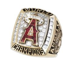 """""""The 2002 Los Angeles Angels World Series Ring"""" We may only have ONE, but it sure was special! Angels Baseball Team, Baseball Ring, Baseball Boys, Angels World Series, World Series Rings, Jerseys Nfl, Mlb Teams, Sports Themed Birthday Party, Sports Theme Classroom"""