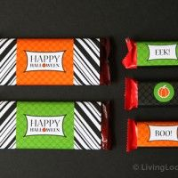 Free Halloween Candy Bar Wrappers {Printable}