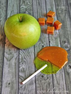 Homemade Caramel Apple Pops