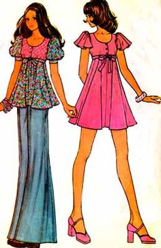 1970s pattern from home ec.  Why weren't my legs that long~?