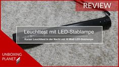 Video mit Leuchttest der 10 Watt LED-Stablampe #leuchttest #ledstablampe #10watt #video