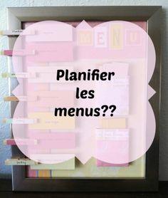 Planifier les menus?