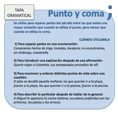 PUNTO Y COMA (;) Learn Spanish / Spanish vocabulary / Spanish grammar