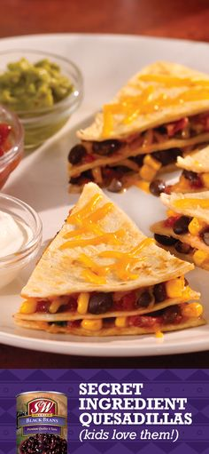 My kids loved these quesadillas— and packed with black beans for extra protein and fiber, I did too. This recipe takes just 20 minutes— but you could add black beans to any quesadilla recipe! #sweeps #sweepstakes #contest Enter Sweeps: http://bit.ly/1YdlgAw