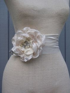 bridal wedding  handmade champagne  and off white one  by denizy03, $65.00