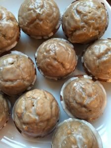 glazed gingerbread muffins. yum! (curiouser and curiouser)