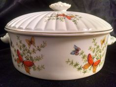 Vintage Ecstasy Dish, Vintage China, China Dish, Casserole Dish, Serving Dish, Butterfly, Ecstasy Dish, Ecstasy, Floral, Butterfly Decor by Vintagepetalpushers on Etsy