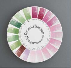 Couleurs Terisse Merigot. Vintage color wheel.
