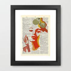 Marilyn on Fire Framed Art Print by AvantPrint - $42.00