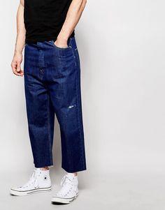 ASOS+Wide+Leg+Jeans+In+Indigo