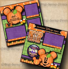MICKEY'S NOT SO SCARY HALLOWEEN disney premade scrapbook pages layout DIGISCRAP #DigiScrapPrints