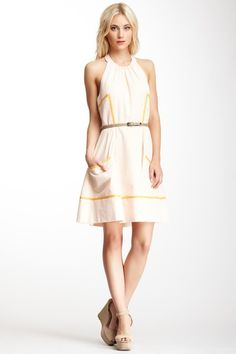 Belted Halter Dress by Jessica Simpson on @HauteLook