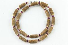 Women Hazel Necklace - plum/gold - Healing Hazel Beaded Necklace, Necklaces, Ankle Bracelets, Plum, Healing, Gold, Jewelry, Women, Fashion