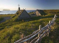 Re-created Viking village 'Norstead' is an attraction for L'Anse aux Meadows Newfoundland, Canada. Very interesting and so glad we got to visit the site! Newfoundland Canada, Newfoundland And Labrador, L'anse Aux Meadows, Places To Travel, Places To See, Viking Village, Discover Canada, Costa, What A Wonderful World