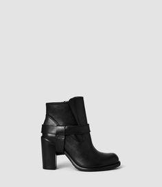 Femme Jules Heeled Boot (Black) | ALLSAINTS.com