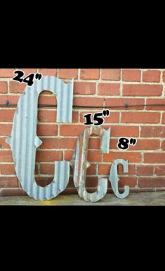 Kansas Barn Tin Letters 15inch Marquee Monogram #barntin #marquee #tinletter #initial #wedding #custom #rusty #galvanized #letters